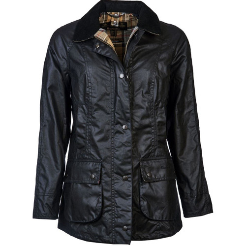 Navy Barbour Womens Beadnell Wax Jacket