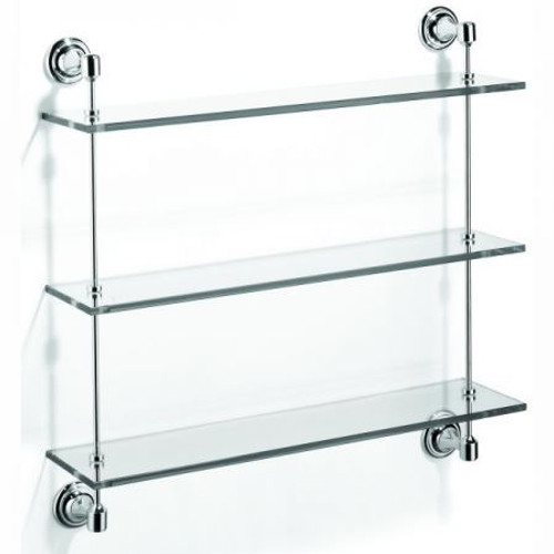 Chrome Plated Samuel Heath Glass Shelf