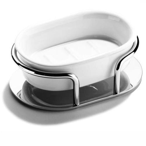 Chrome Plated Samuel Heath Ceramic Soap Dish