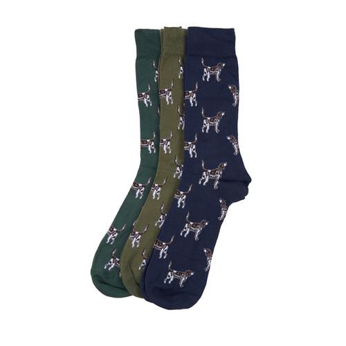 Multi Barbour Mens Pointer Socks Gift Set