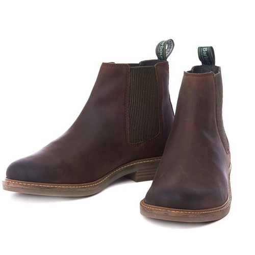 Choco Barbour Mens Farsley Chelsea Boots
