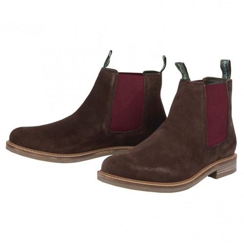 Brown Suede Barbour Mens Farsley Chelsea Boots