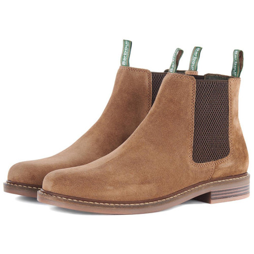 Sand Suede Barbour Mens Farsley Chelsea Boots