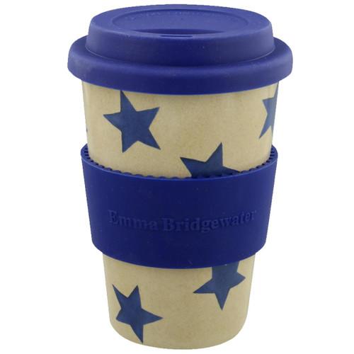 Emma Bridgewater Blue Star Rice Husk Travel Mug