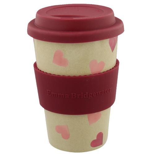 Emma Bridgewater Pink Hearts Rice Husk Travel Mug