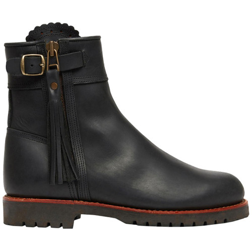 Black Penelope Chilvers Womens Cropped Lined Tassel Boot