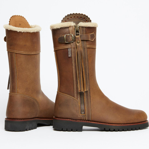 Conker  Penelope Chilvers Midcalf Lined Tassel Boot