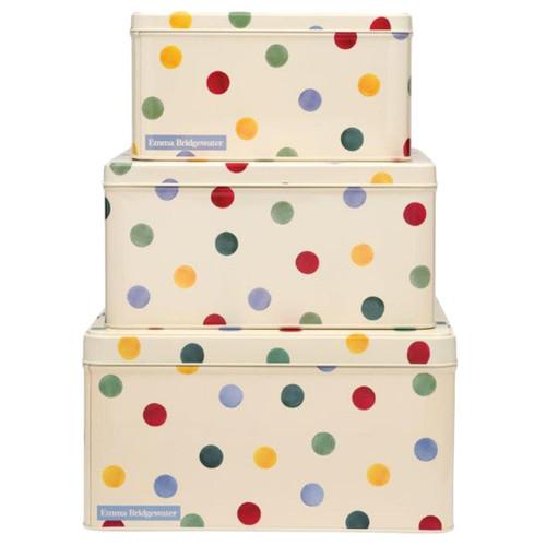Emma Bridgewater Polka Dot Set Of 3 Rectangular Cake Tins