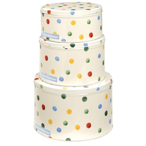 Emma Bridgewater Polka Dot Set Of 3 Cake Tins