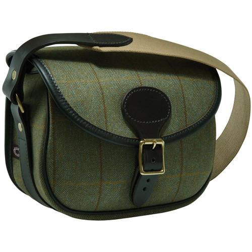 Green - Croots Helmsley Tweed Cartridge Bag