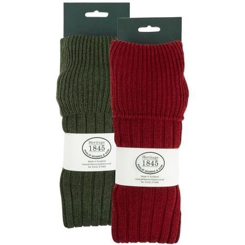 Spruce & Brick Red Heritage 1845 Mens Jura Classic Boot Sock Twin Pack