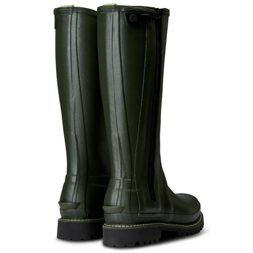 Hunter Womens Balmoral Leather Lined Full Zip Boots rear