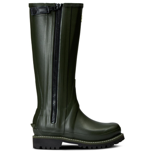 Hunter Womens Balmoral Leather Lined Full Zip Boots Side