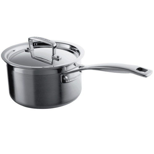 Le Creuset 14cm 3 Ply Stainless Steel Saucepan With Lid