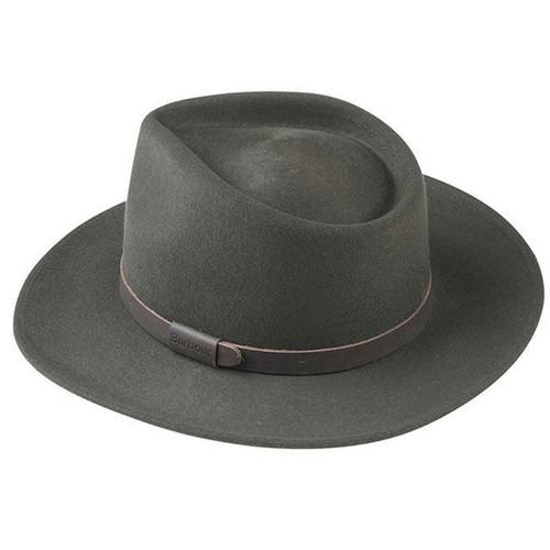 Olive Barbour Mens Crushable Bushman Hat