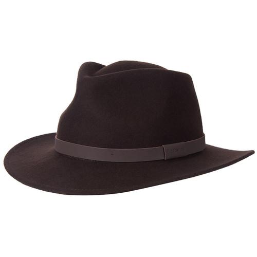 Brown Barbour Mens Crushable Bushman Hat