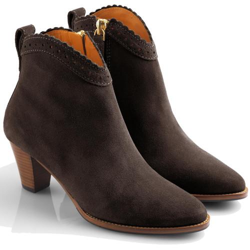 Chocolate Fairfax & Favor Womens Regina Ankle Boots