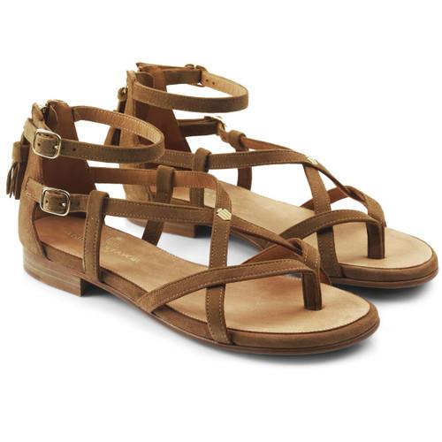 Tan Fairfax & Favor Womens Brancaster Sandals