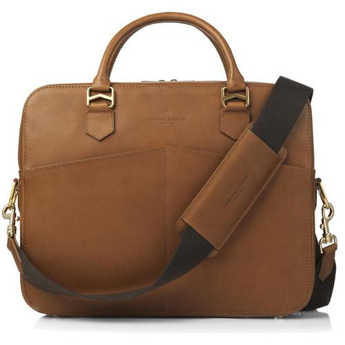 Tan Leather Fairfax & Favor Mens Westminster Laptop Bag