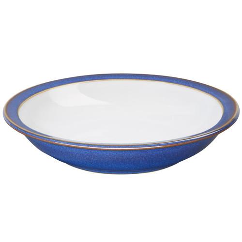 Denby Imperial Blue Shallow Rimmed Bowl