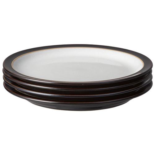 Denby Elements Black Set Of 4 Medium Plates