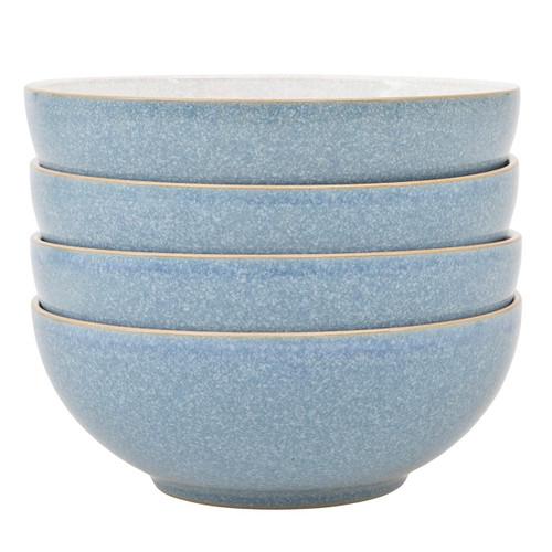 Denby Elements Light Blue Set Of 4 Cereal Bowls