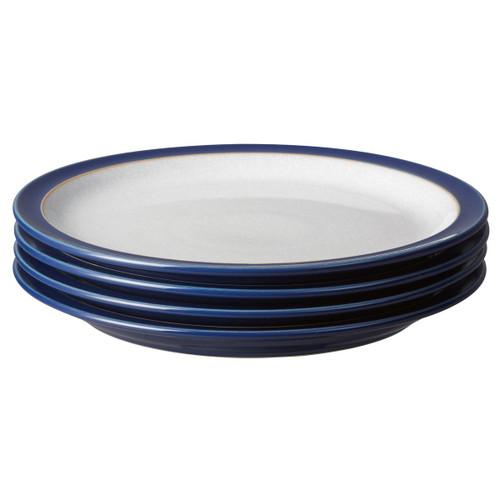 Denby Elements Dark Blue Set Of 4 Medium Plates