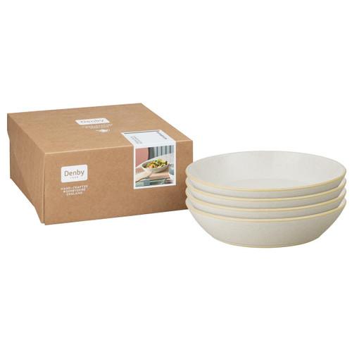Denby Impression Cream Set Of 4 Pasta Bowls