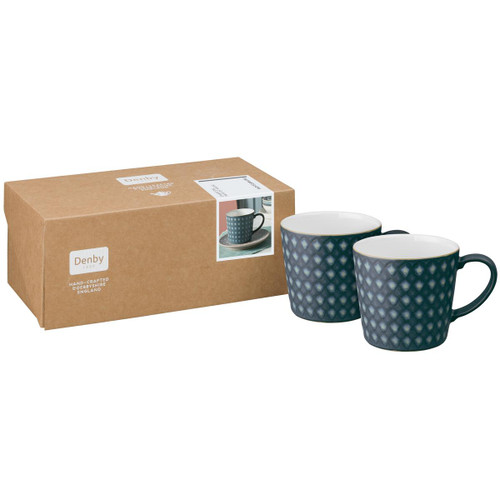 Denby Impression Charcoal Set Of 2 Accent Large Mugs