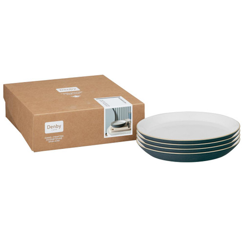 Denby Impression Charcoal Set Of 4 Medium Plates