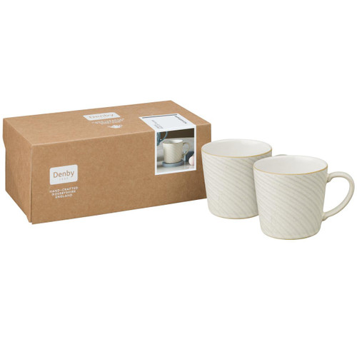 Denby Impression Cream Set Of 2 Accent Large Mugs