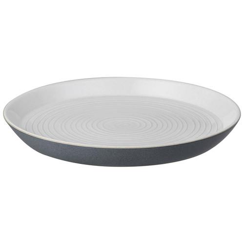 Denby Impression Charcoal Spiral Dinner Plate