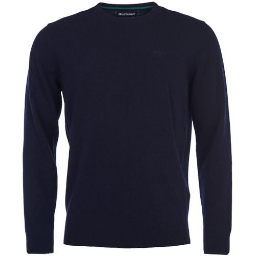 Navy Barbour Mens Essential Lambswool Crew Neck Sweater