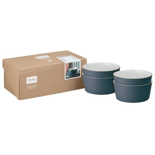 Denby Impression Charcoal Set Of 4 Straight Bowls