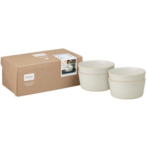 Denby Impression Cream Set Of 4 Straight Bowls