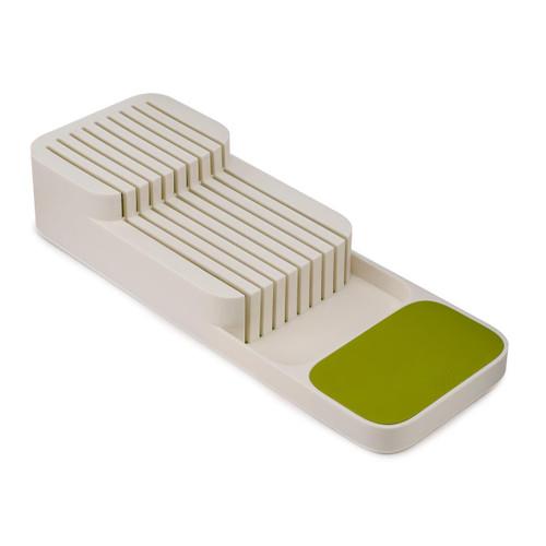 White/Green Joseph Joseph DrawerStore Compact 2-tier Knife Organiser