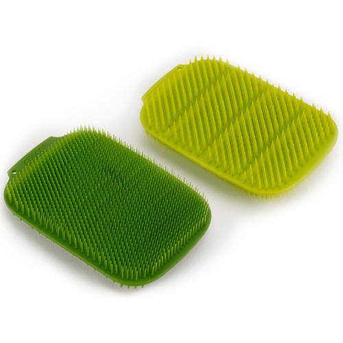 White/Green Joseph Joseph CleanTech 2 Pack Washing-up Scrubber