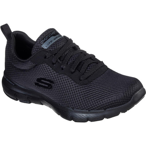 Black Skechers Womens Flex Appeal 3.0 First Insight Shoes
