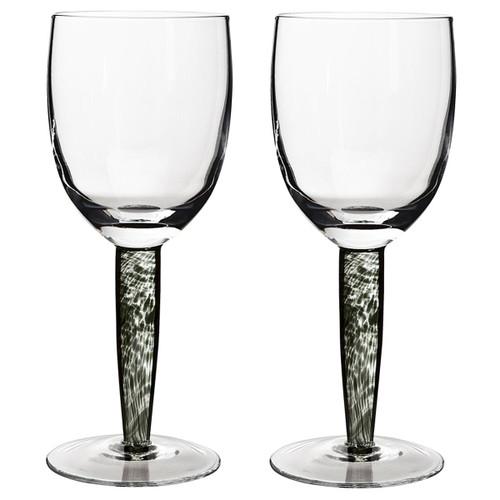 Denby Jet White Wine Glass Pack Of 2