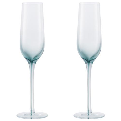 Denby Colours Champagne Flutes (Green) Set of 2