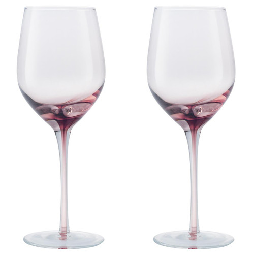 Denby Colours Red Wine Glass (Pink) Set Of 2