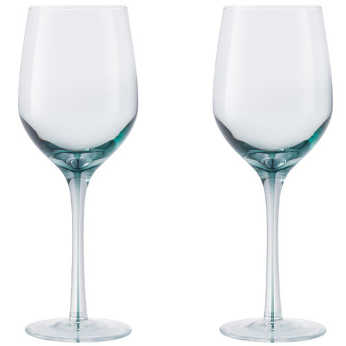 Denby Colours White Wine Glass (Green) Set Of 2