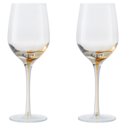 Denby Colours White Wine Glass (Yellow) Set Of 2