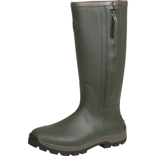 Dark Olive Seeland Mens Noble ZIp Wellington Boots