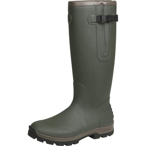 Dark Olive Seeland Mens Noble Gusset Wellington Boots