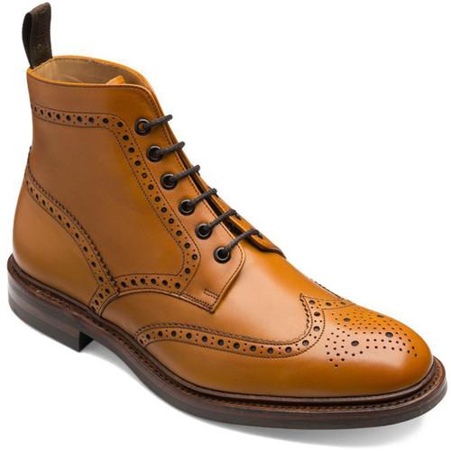 Tan Loake Mens Burford Brogue Boots