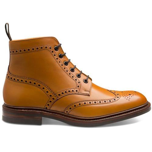 Tan Loake Mens Burford Brogue Boots Side