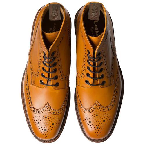 Tan Loake Mens Burford Brogue Boots Top