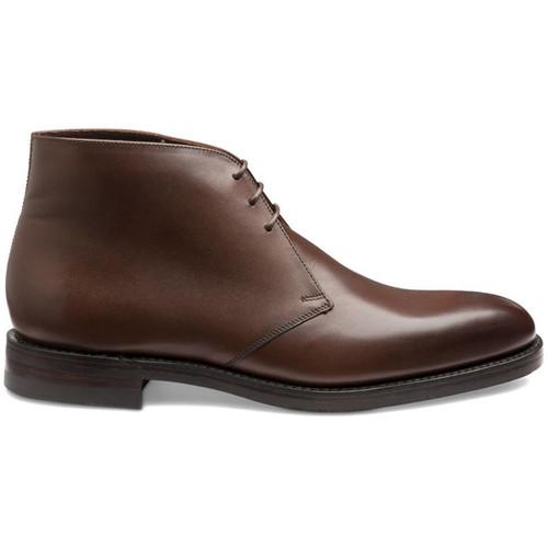 Dark Brown Loake Mens Pimlico Chukka Boots Side