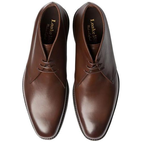 Dark Brown Loake Mens Pimlico Chukka Boots Top